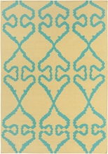 Lima Bright Flatweave Rug in Yellow and Blue