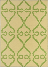 Lima Bright Flatweave Rug in Yellow and Green