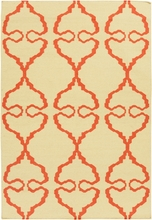 Lima Bright Flatweave Rug in Yellow and Orange