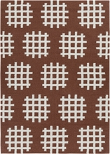 Lima Cross Spots Flatweave Rug in Brown