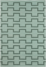 Lima Geo Blocks Flatweave Rug in Mint