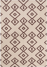 Lima Geo Diamonds Flatweave Rug in Beige and Brown