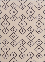 Lima Geo Diamonds Flatweave Rug in Beige and Slate