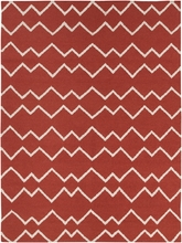 Lima Geo Waves Flatweave Rug in Red