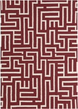 Lima Maze Flatweave Rug in Red