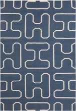 Lima Shapes Flatweave Rug in Blue Gray