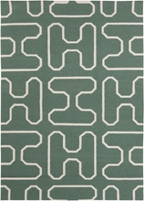 Lima Shapes Flatweave Rug in Green