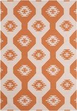 Lima Southwest Flatweave Rug in Orange