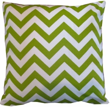 Lime Chevron Throw Pillow