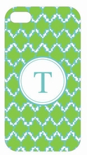 Lime Ikat Chevron iPhone Case