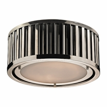 Linden Flush Mount In Polished Nickel