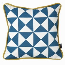 Little Geometry Pillow in Blue