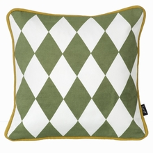 Little Geometry Pillow in Olive