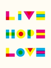 Live, Hope, Love Canvas Wall Art