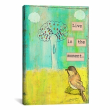Live In The Moment Canvas Wall Art