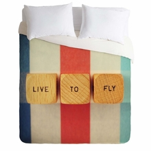 Live To Fly Lightweight Duvet Cover