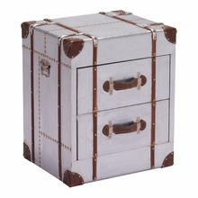 Locke Nightstand Distressed Aluminum