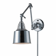 Loft Glass Swingarm Sconce In Polished Chrome