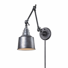 Loft Glass Swingarm Sconce In Weathered Zinc