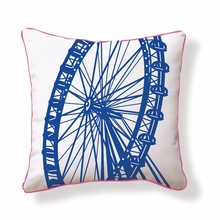 London Ferris Wheel Reversible Throw Pillow