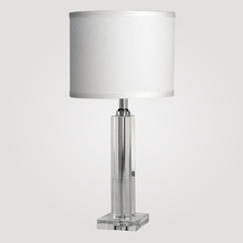 London Small Clear Crystal Table Lamp