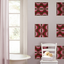 Loopy Blox Wall Decals - Red & Pink