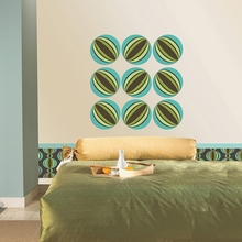 Loopy Dot Wall Decals - Blue & Green
