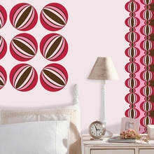 Loopy Dot Wall Decals - Red & Pink