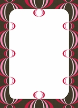 Loopy Red-Pink Peel & Stick Dry-Erase Board