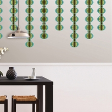 Loopy Stripe Wall Decals - Blue & Green