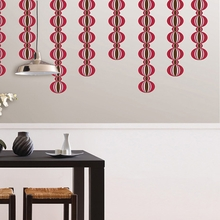 Loopy Stripe Wall Decals - Red & Pink