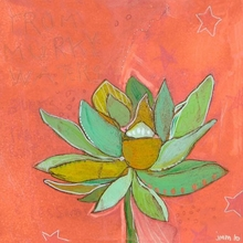 Lotus Peach Canvas Wall Art