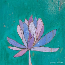 Lotus Purple Canvas Wall Art