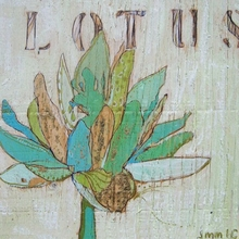 Lotus Teal Canvas Wall Art
