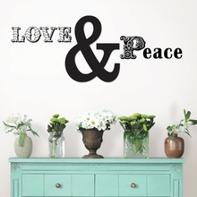 Love and Peace Quote Wall Decal