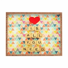 Love is All You Need Rectangle Tray