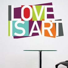 Love is Art Wall Decal