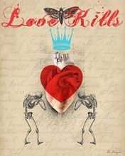 Love Kills Canvas Wall Art