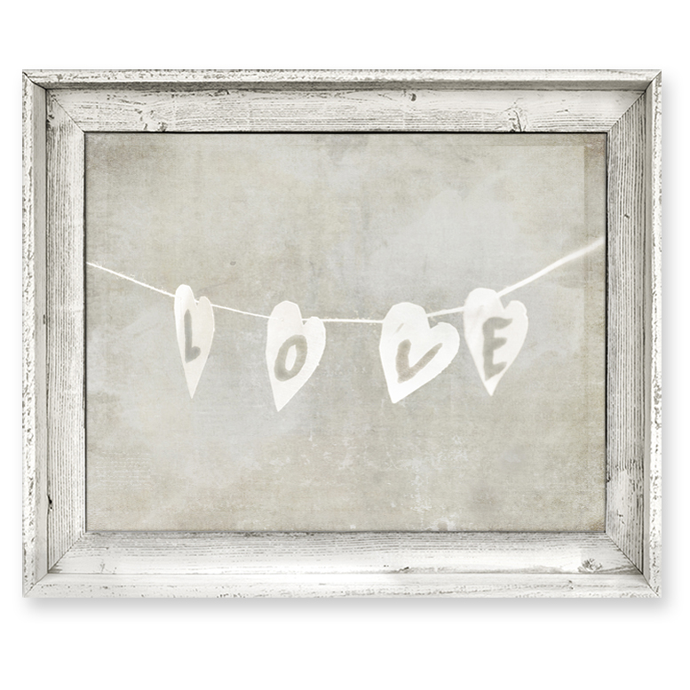 Gray Wall Art district17: love string framed canvas wall art: framed art,canvas