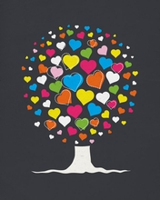 Love Tree Canvas Wall Art