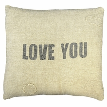 Love You Linen Throw Pillow