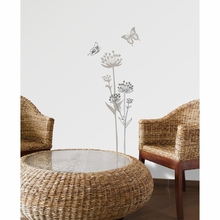 Lugano Flowers and Butterflies Transfer Wall Decals