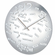 Magnetic Love Poem Wall Clock