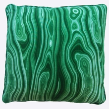 Malachite Green Throw Pillow