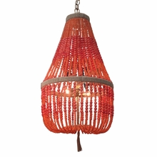 Ro Sham Beaux Malibu Coral Beaded Chandelier