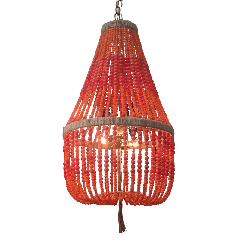 District17 Ro Sham Beaux Malibu Coral Beaded Chandelier Chandeliers – Coral Chandelier
