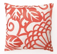 Mango Chrysanthemum Linen Embroidered Pillow