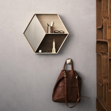 Maple Wall Wonder Mirror with Shelves