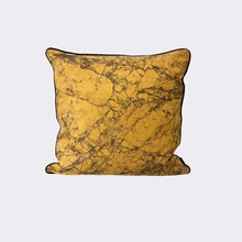 Marble Throw Pillow in Curry