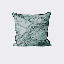 Marble Throw Pillow in Dusty Blue